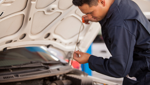 Professional Automotive changing the oil in Anchorage