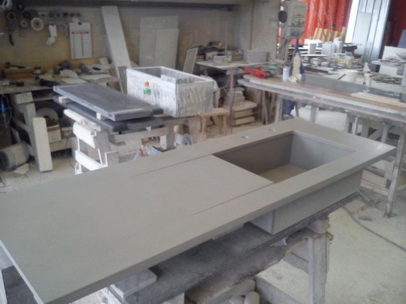 lavello quarzite grigia vasca scatolata
