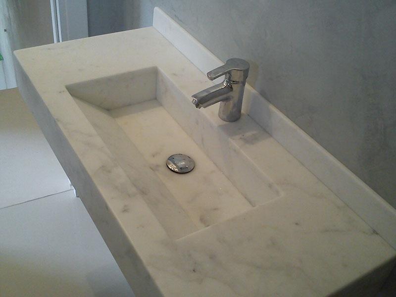 lavabo quadra bianco michelangelo assemblato