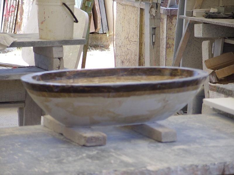 vasca ovale da sopra top da rifinire