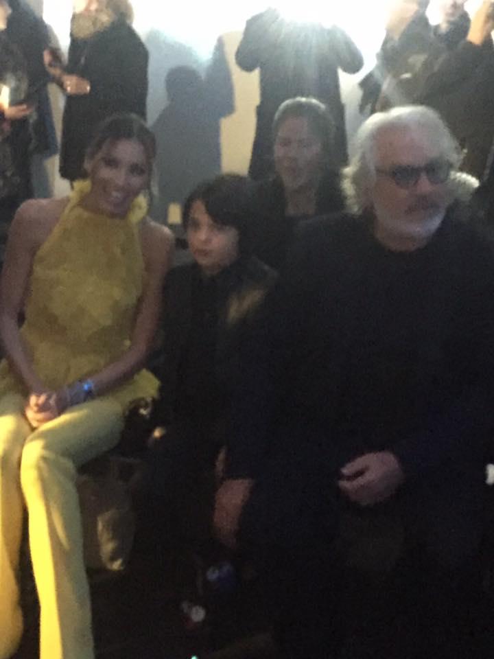 Flavio Briatore e altre persone sedute