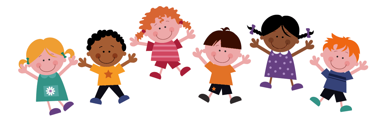 Cartoon image of kids