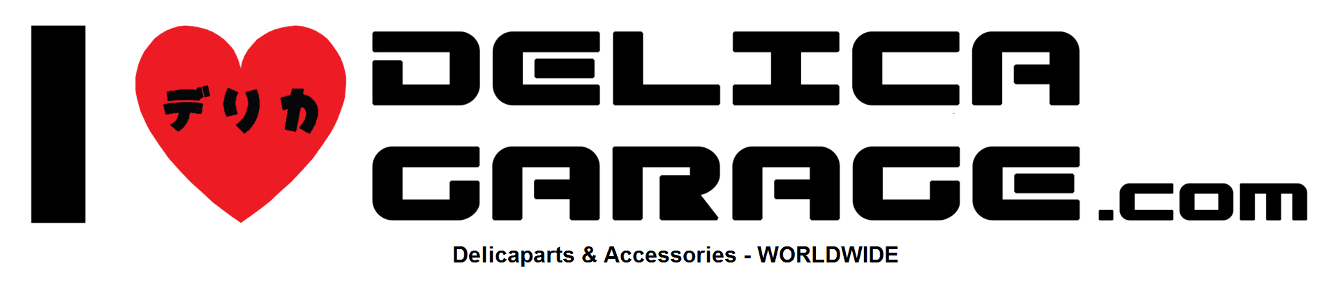 i love delica garage dot com logo