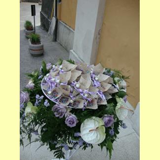 mazzo di fiori viola personalizzato