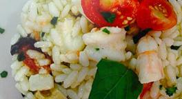 risotto alla pescatora, specialità di pesce, primi piatti di mare