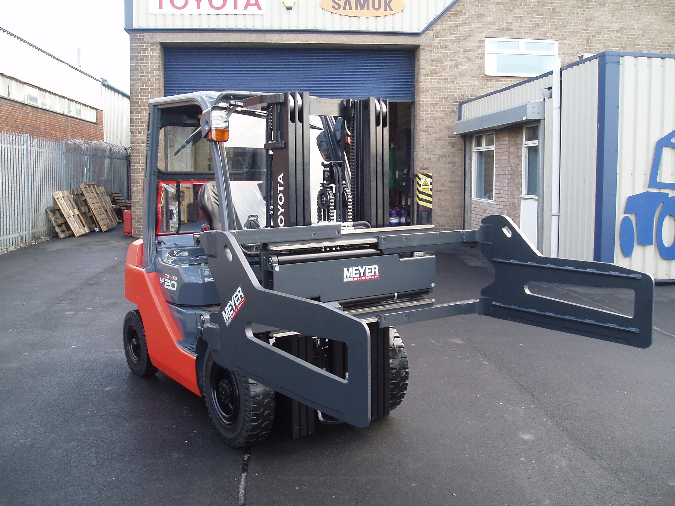 forklift being operated