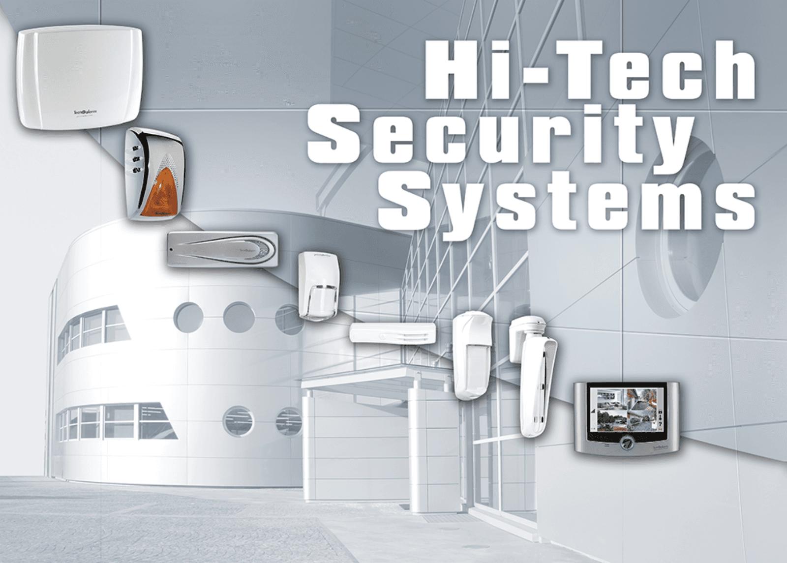un dépliant di Hitech security systems