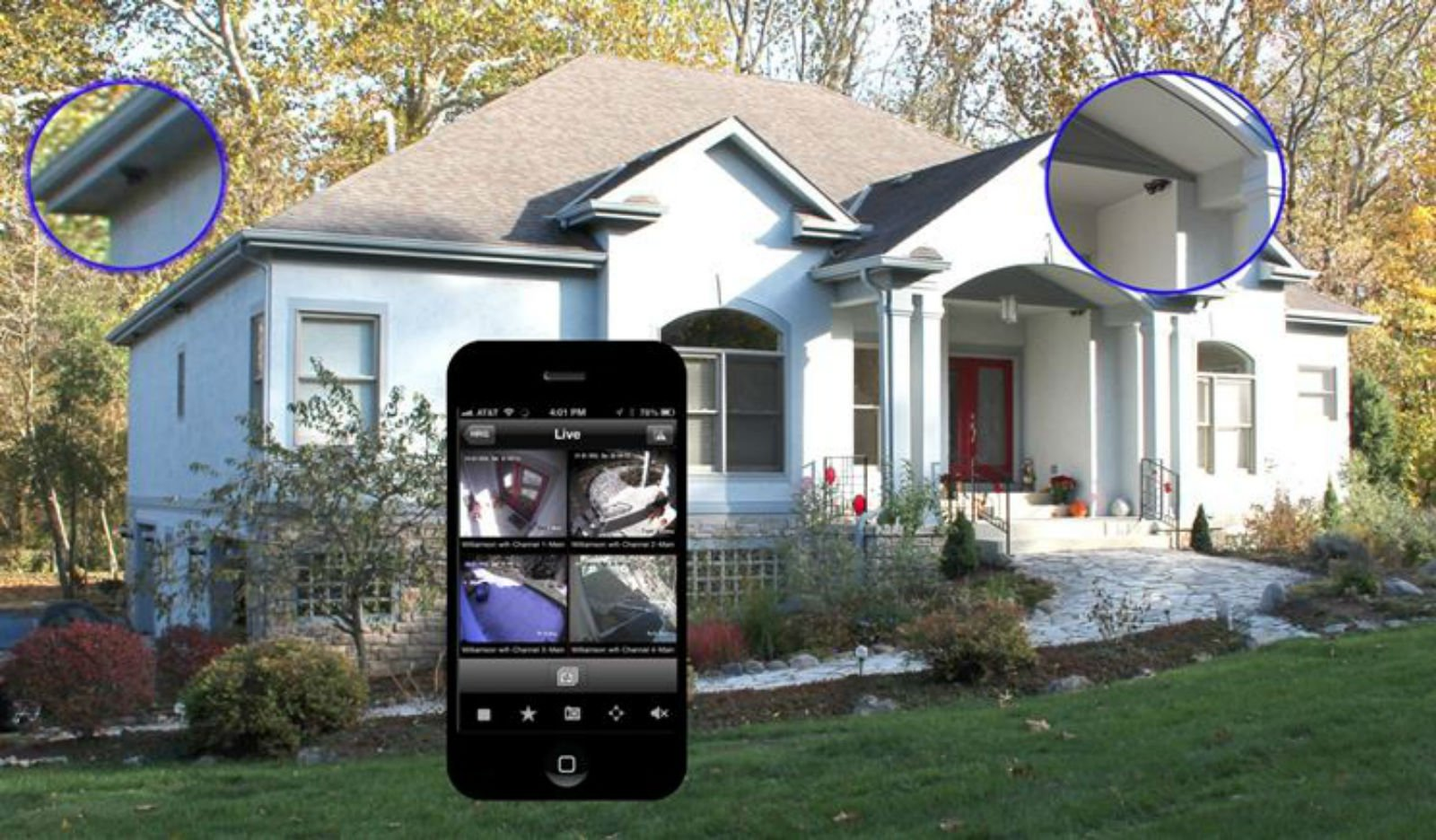 uno smartphone e una villa