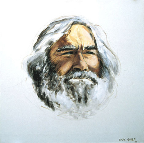 Musa - I have been an ardent admirer of Eric Gould's paintings for many years. I believe him to be, for want of a better phrase, a soul-painter. He has that unique gift of penetrating into the inner dimensions of his subject. (Moris Farhi, MBE)