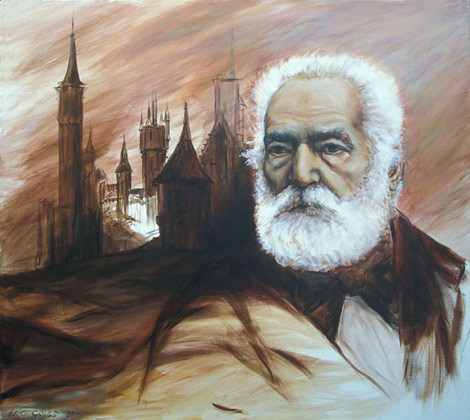Victor Hugo - This has been presented to the Mairie du 6em, Lyon, France, at the opening of Eric's exhibition in their salons in 2006.