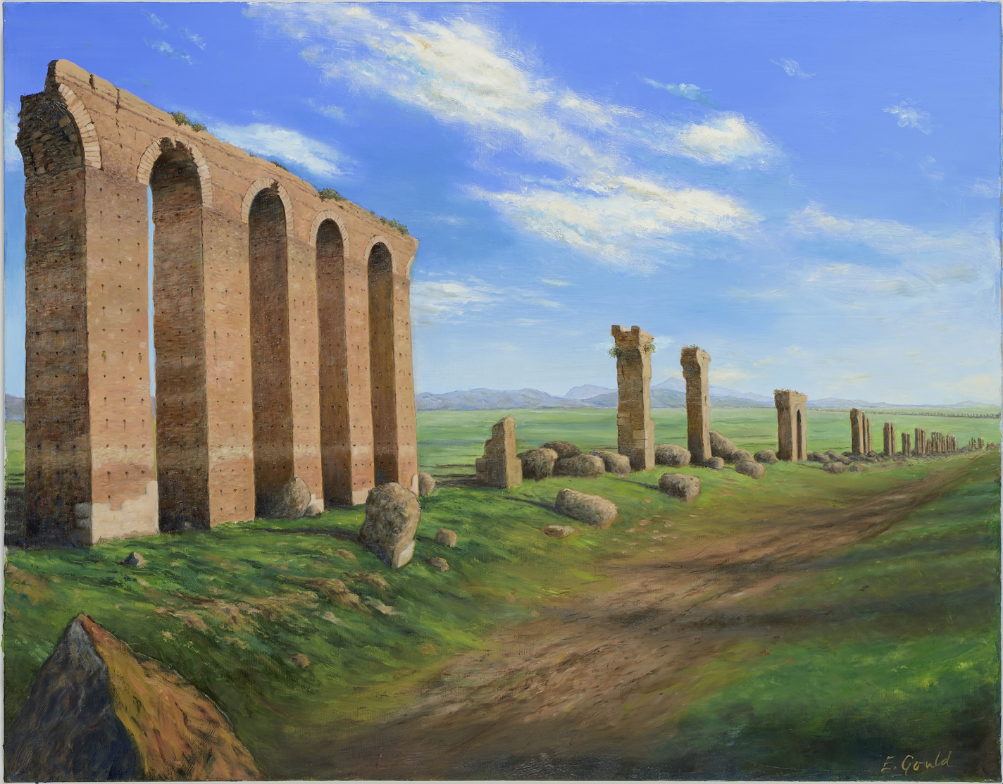 Zaghouan aqueduct - One of the many vestiges of the Roman empire in North Africa.