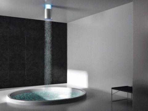 vasca design, doccia con cromoterapia