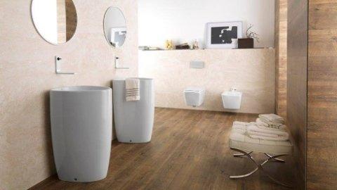 bagno con due lavelli, bagno moderno