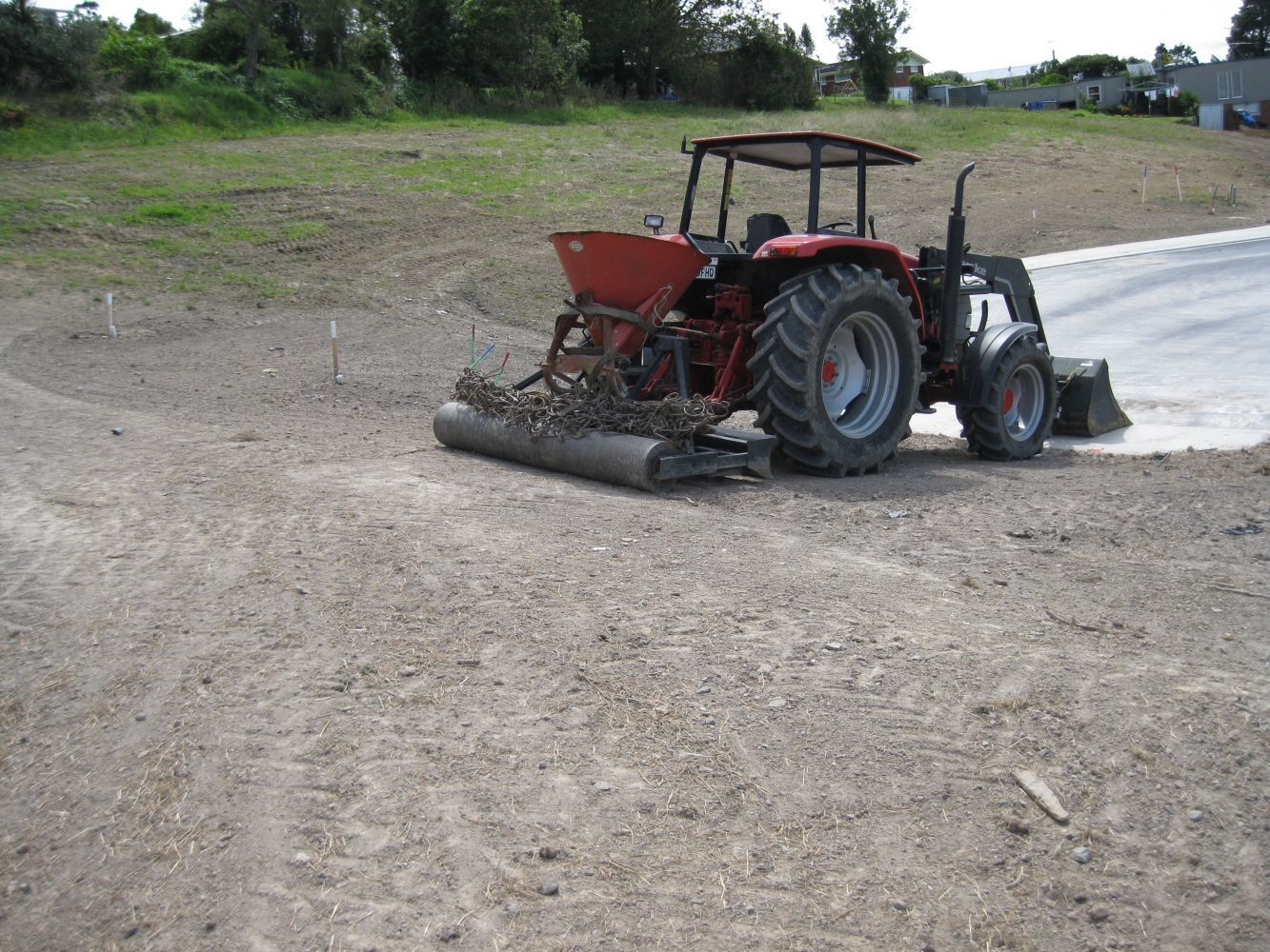 Soil spreading in Auckland
