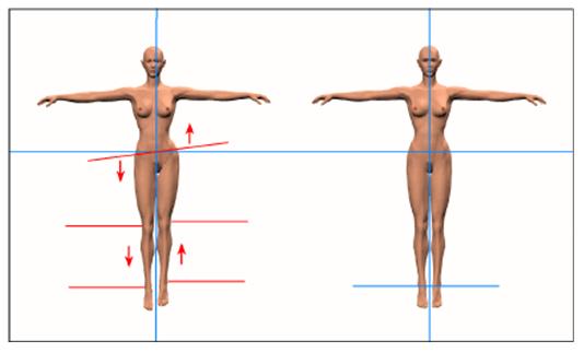 illustrazione della postura corretta