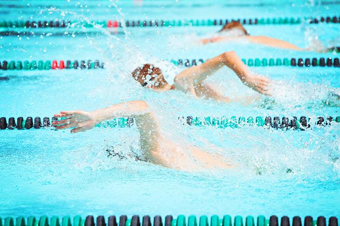 school swimming athletics