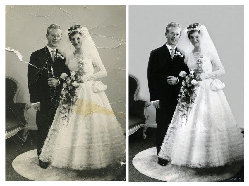oude foto, oude foto's, beschadigde foto, foto herstellen, foto repareren, foto restaureren