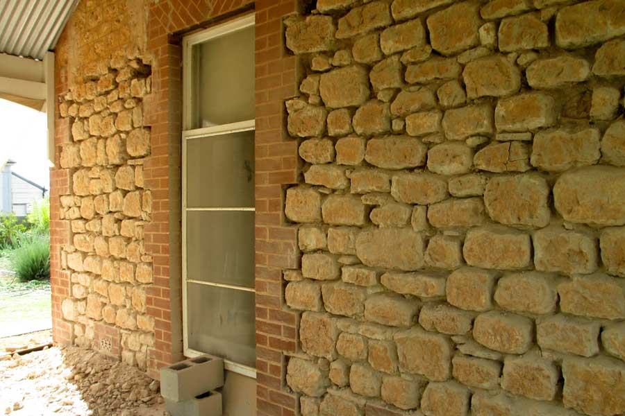 stone finish - home exterior