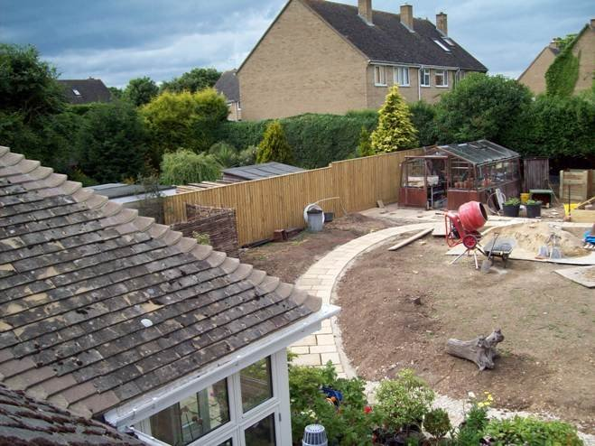 Fencing, Paving and Lawn preparation - Oxford - Trees & Gardens Ltd