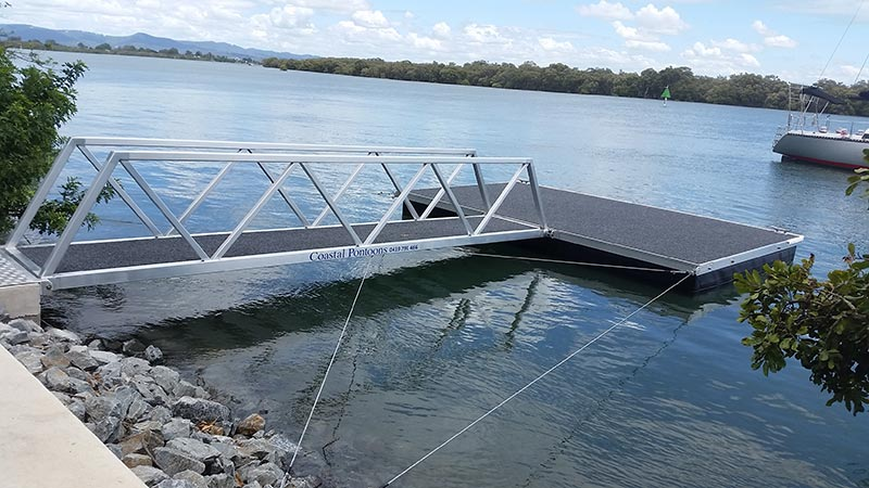 coastal pontoon and jetty repairs good finishing of jetty and pontoon