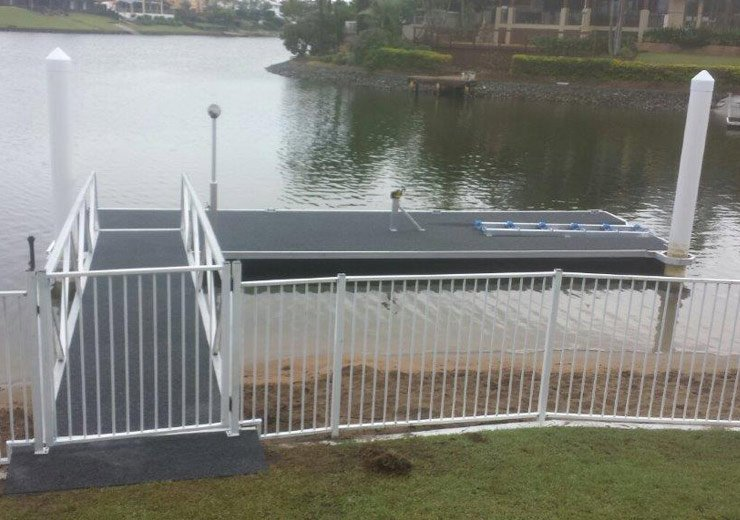 coastal pontoon and jetty repairs jetty and pontoon with complete finish