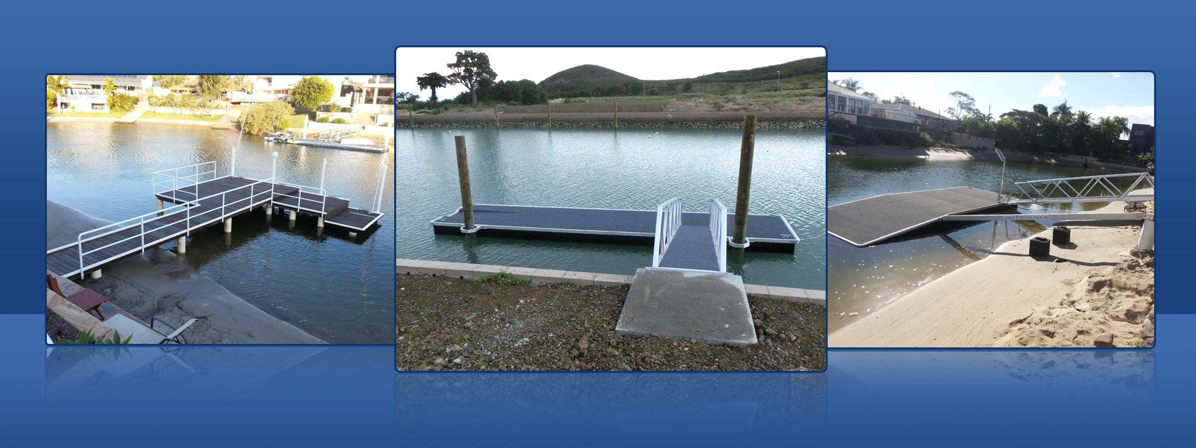 coastal pontoon and jetty repairs newly built jetty and pontoon