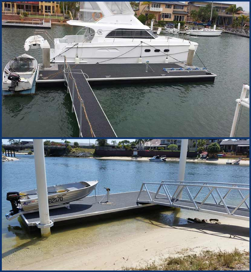 New commercial pontoons on the Gold Coast