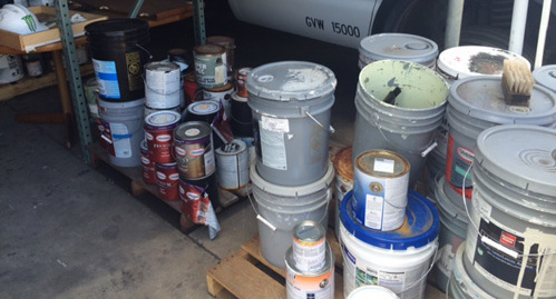 Paint containers of a company to provide professional services in Honolulu, HI