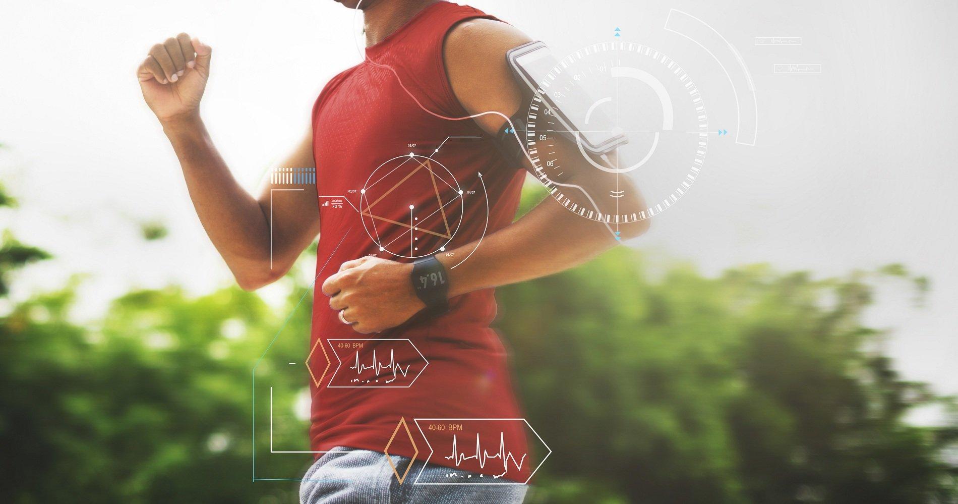 Atleta controllato con esame diagnostico dell'apparato neuro-muscolo-scheletrico e Holter Ecg per il monitoraggio dell'attività cardiaca.