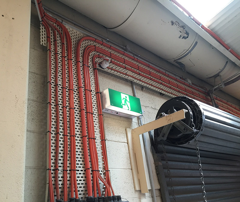 Wiring work at the customer location by HARP