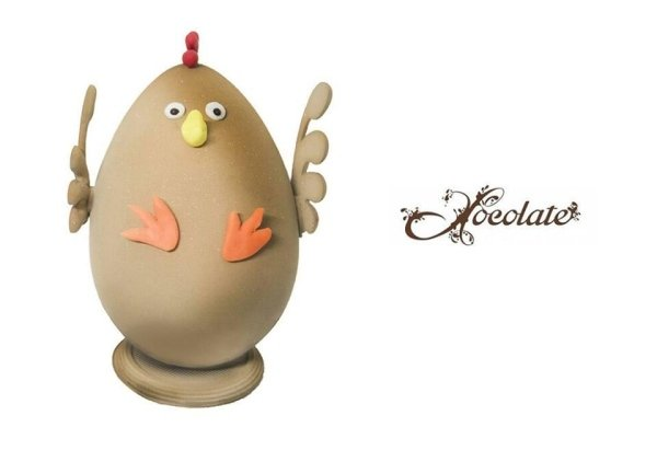uova di pasqua a forma di gallina