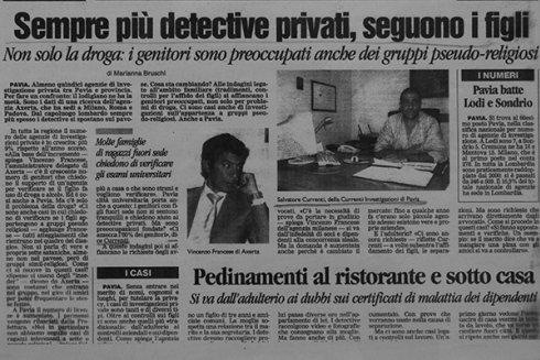 Sempre più detective privati, seguono i figli