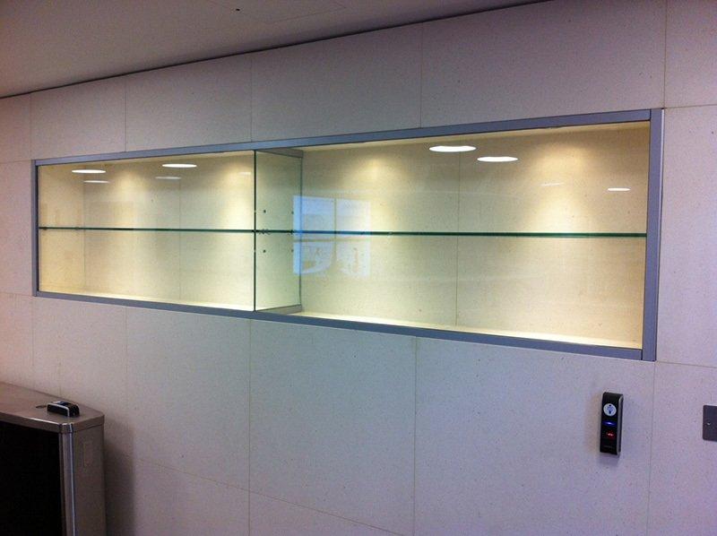 glass display cabinet & shelving