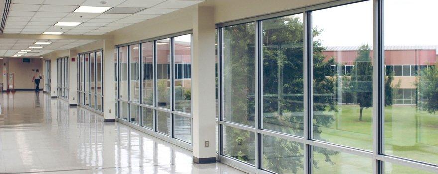 glazed corridor area