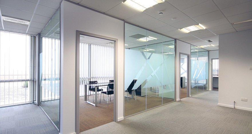 large glazed office area
