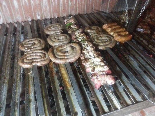 Salsicce sulla griglia