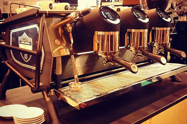 una macchina del caffè'