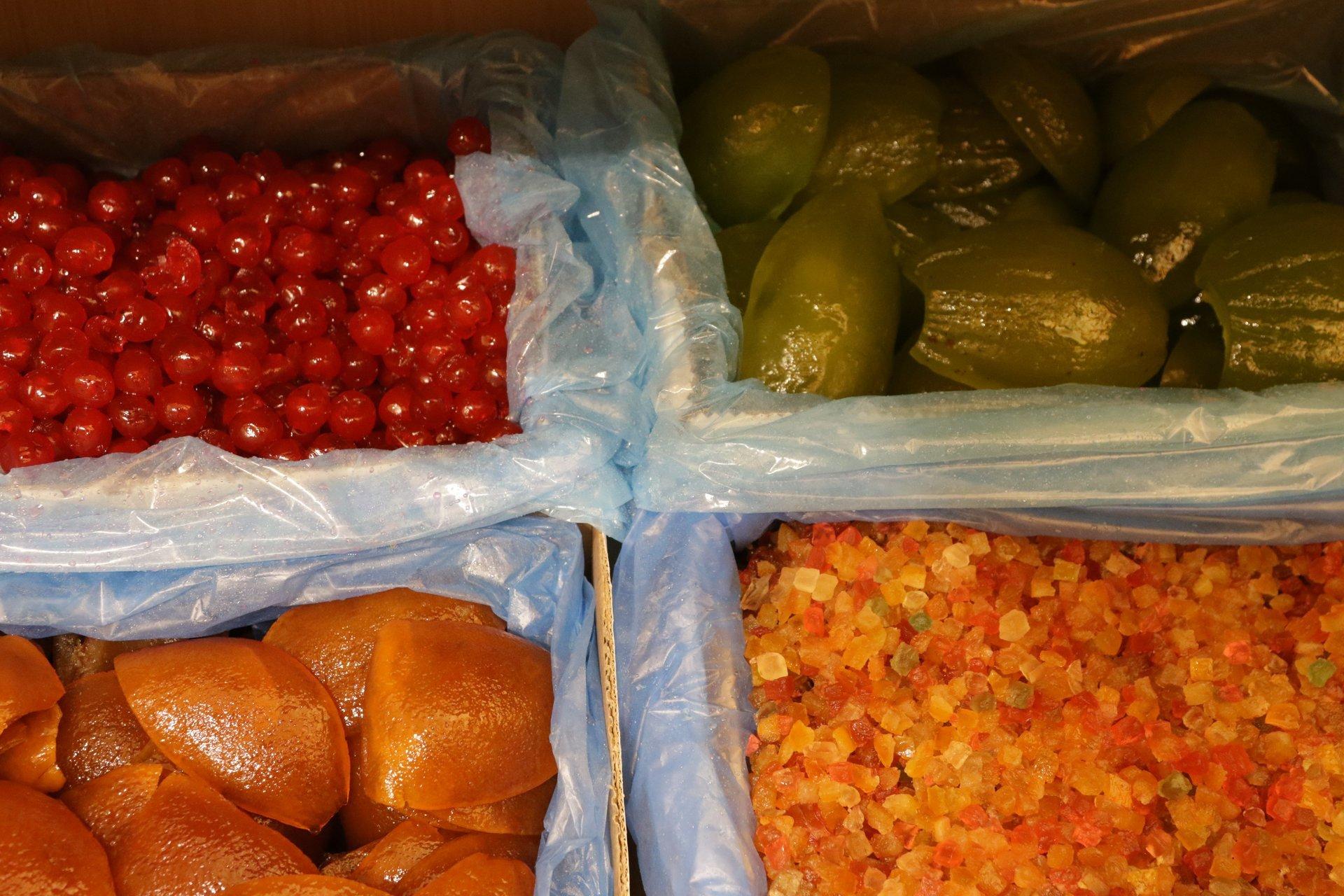 frutti secchi con diverse tipi