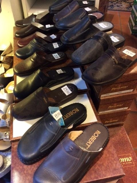 Pantofole uomo in pelle, Calzature Fiorini, Siena