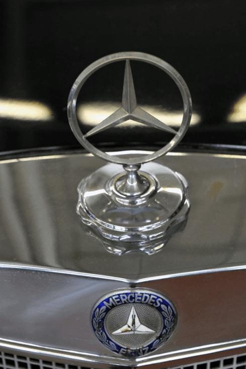 dettaglio stemma Mercedes