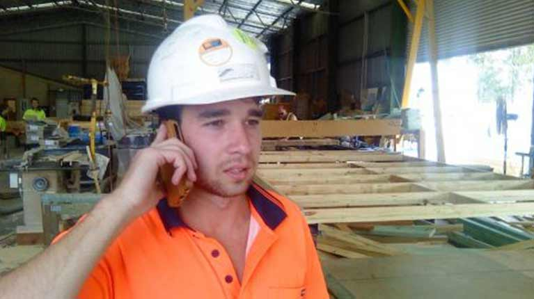 newcastle frame and truss professional on the phone