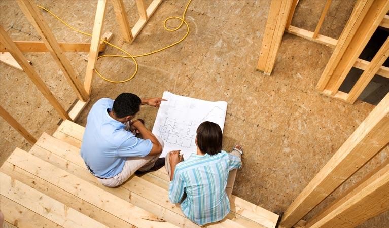 Men building timber frames in Lake Macquarie