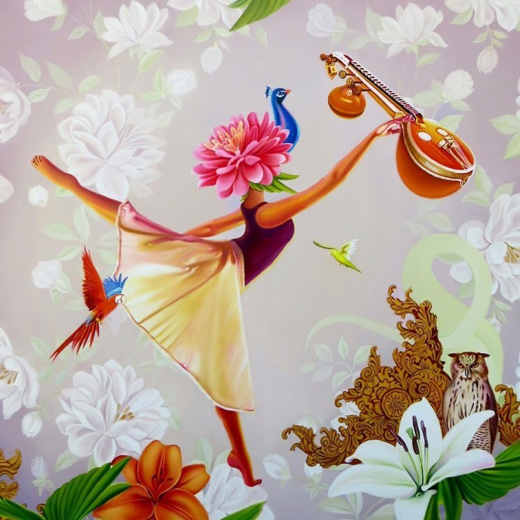 painting of a dancing girl