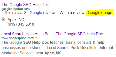 Google+ Snippet in SERP