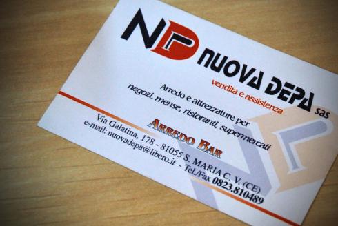 biglietto da visita ND NUOVA DEPA