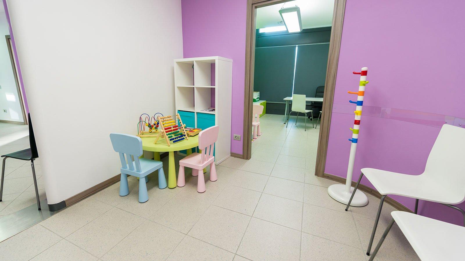 Bambini zona funtime al Centro Medico La Breva