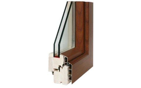 Coibent Line legno/alluminio quadrata