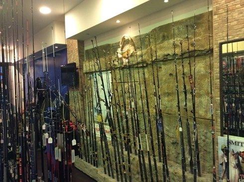 Arredo negozio da pesca