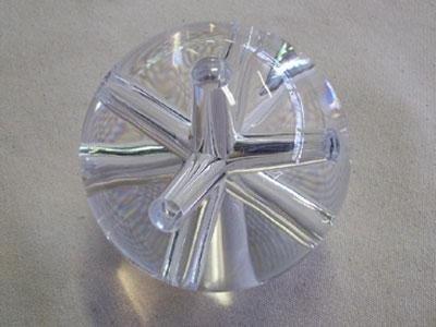sfera con fori plexiglass