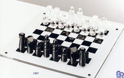 scacchiera in plexiglass